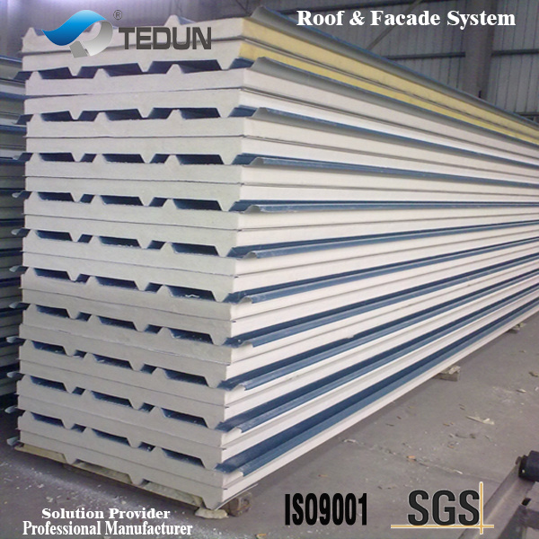 China Prepainted Aluminium Pu Sandwich Roof Panel China