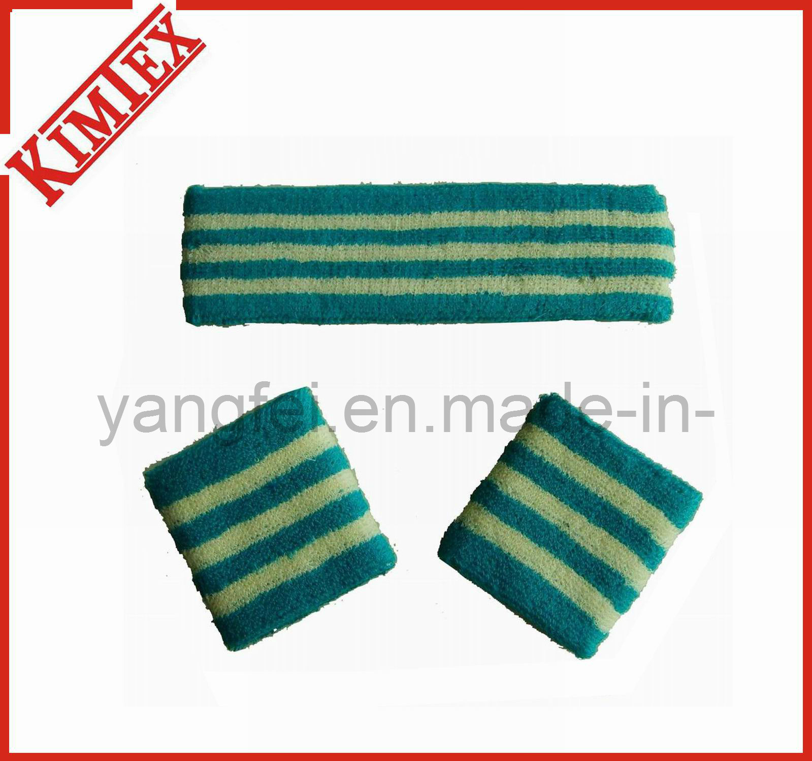 Sports Embroidery Terry Cotton Sweat Headband (kimtex-03)