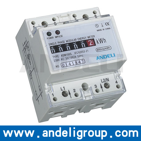 Single Phase Electronic DIN Rail Active Energy Meter (ADM100S)