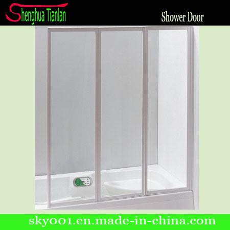 China New 3 Panel Glass Door Fiberglass, Fiberglass Shower Stall With Glass Door