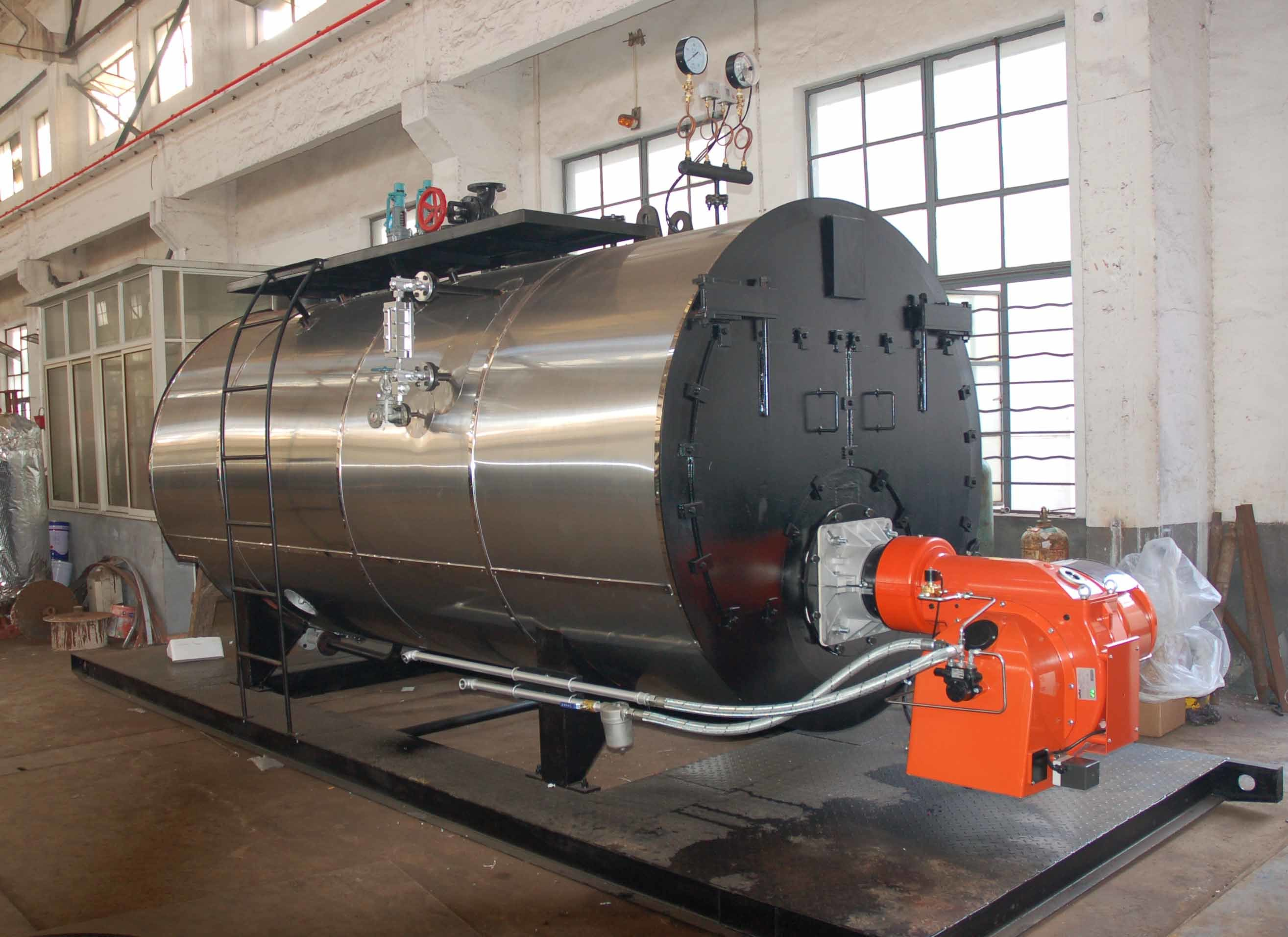 China 500-6000kg/H Fire Tube 3 Pass Wet Back Type Oil Fired Steam ...