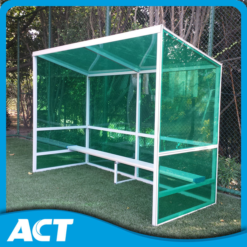 China Straight Frame Outdoor Football Team Shelter with Tinted Polycarbonate  Sheets - China Team Shelter, Player Bench