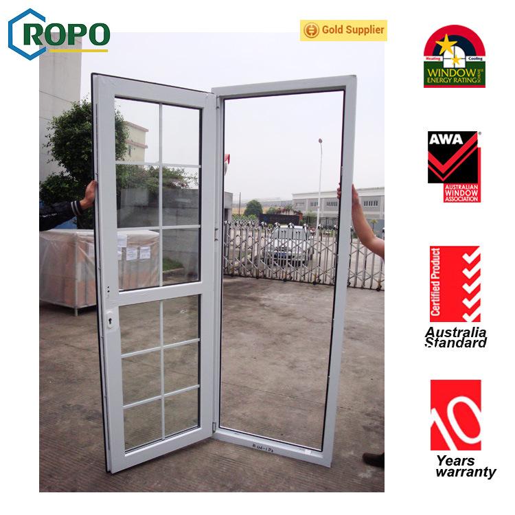 China Australia Standard Double Glass French Door Safety Glass Door