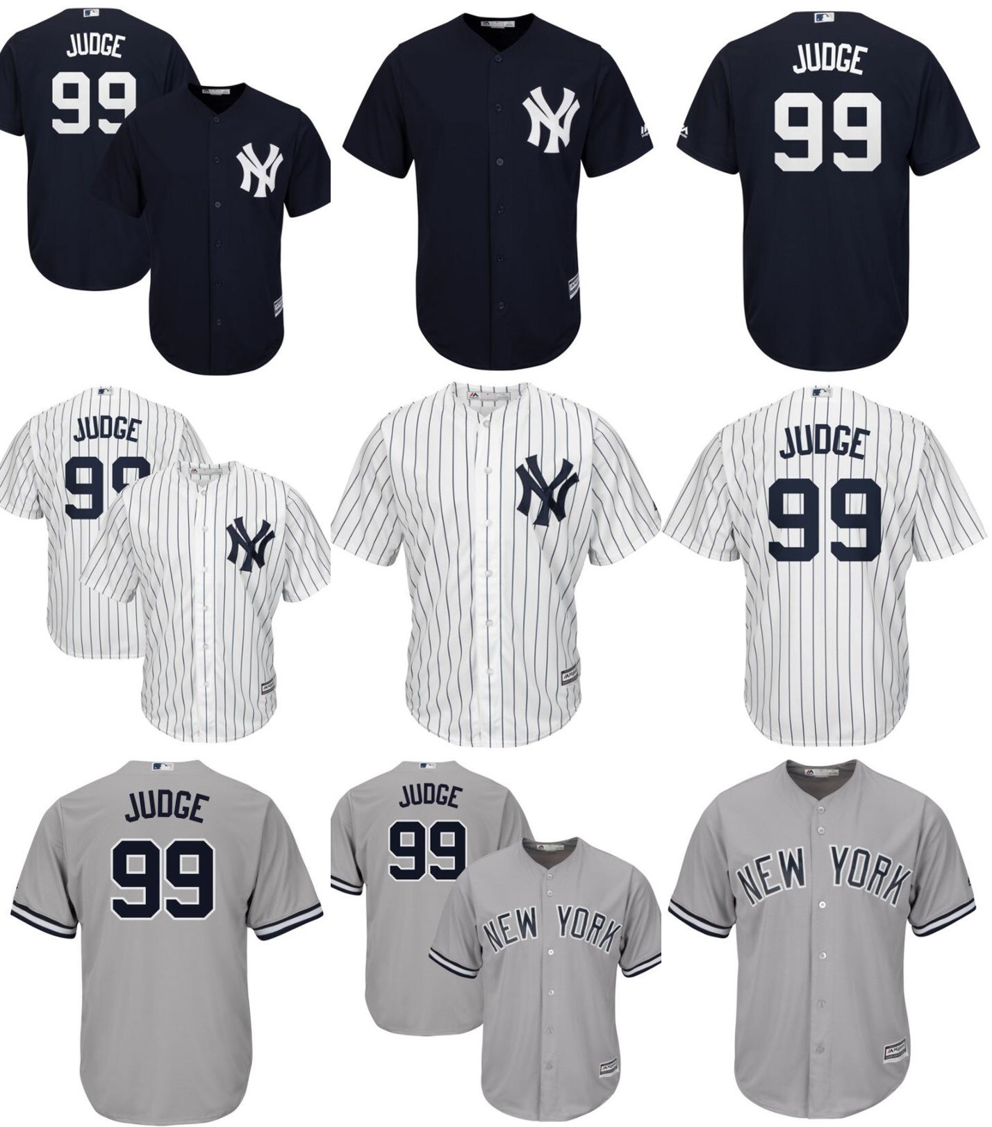 best sneakers a1af9 662bd [Hot Item] New York Yankees Aaron Judge Cool Base Player Baseball Jerseys