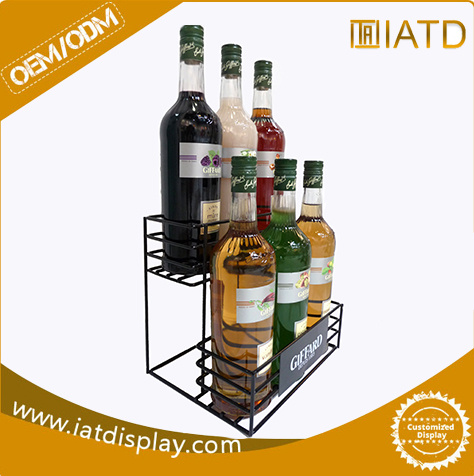 Wholesale Metal Floor Wine Bottle Display Manufacture pictures & photos