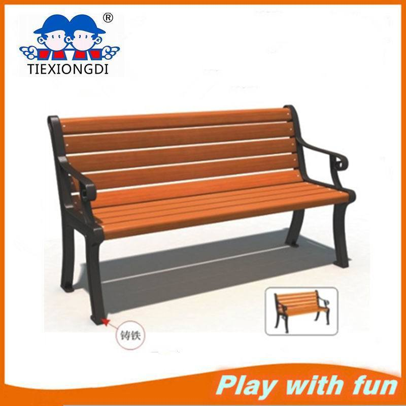 China Garden Furniture Wood Plastic Composite Morden Outdoor Wooden Park Bench