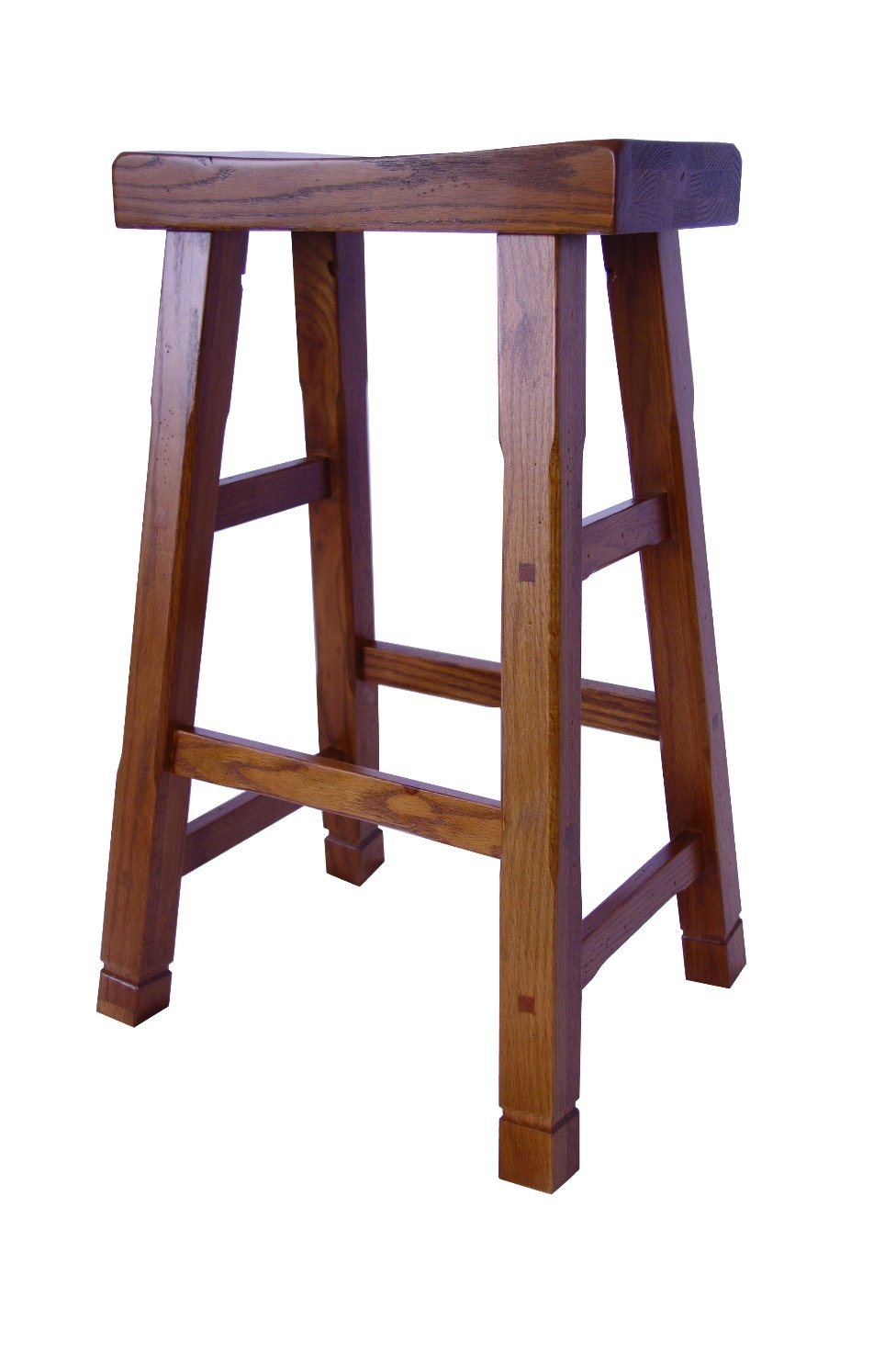 Country Style Solid Oak Wood Bar Stool