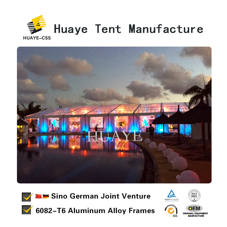 China Clear Roof Elegant Transpa Wedding Tent With German Quality Hy010g Weedding Party