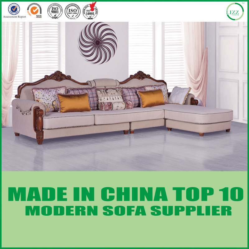 China Middle East Style Luxury Wood Fabric Living Room Sofa Furniture Home