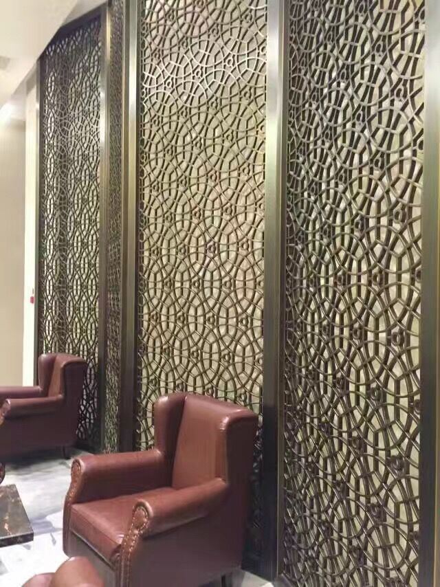 China Curtain Wall Panel 304 Stainless Steel Screen Room Divider