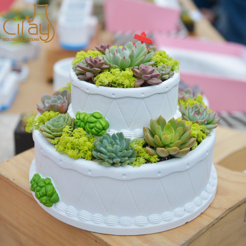 Cool China Creative Birthday Cake Shape Cement Pot For Gift China Pot Funny Birthday Cards Online Hendilapandamsfinfo