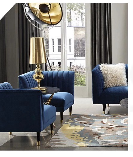 China Living Room Design Ideas Luxury Couch Blue Velvet Knock Down Chesterfield Sofa China Living Room Sofa Leather Sofa