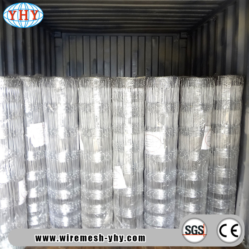 China Hog Wire Animal Galvanized Woven Wire Fence - China Fence Bull ...
