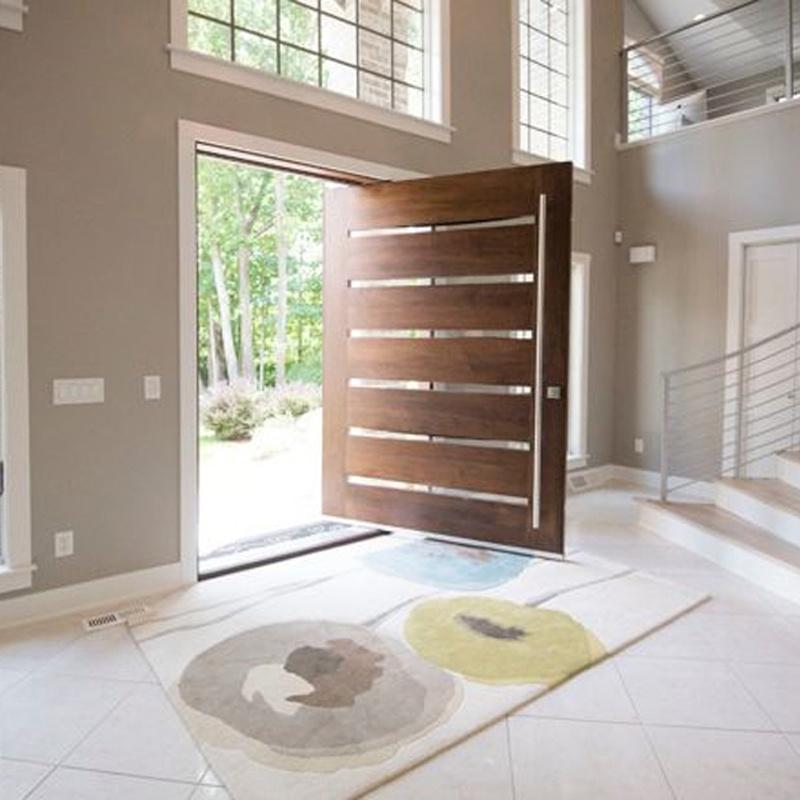 China Elegant Modern Front Wooden Pivot Entry Doors