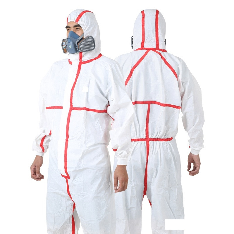 China Disposable Yellow Hazmat Suit, Protective Chemical Plastic ...