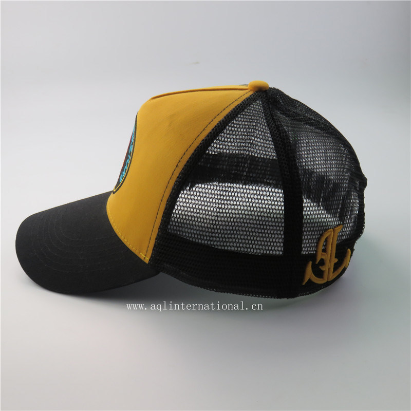98fb8fff400e98 Custom 5 Panels 3D Embroidery and Embroidery Patch Mesh Trucker Cap