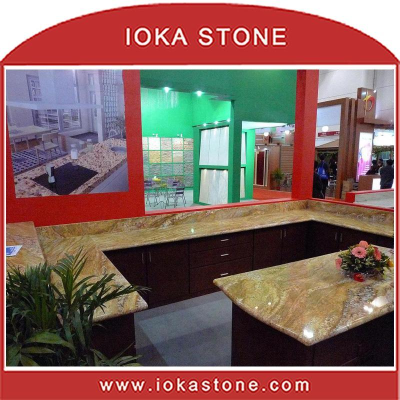 China Imperial Gold Granite Countertop/Kitchen Top (CT-319