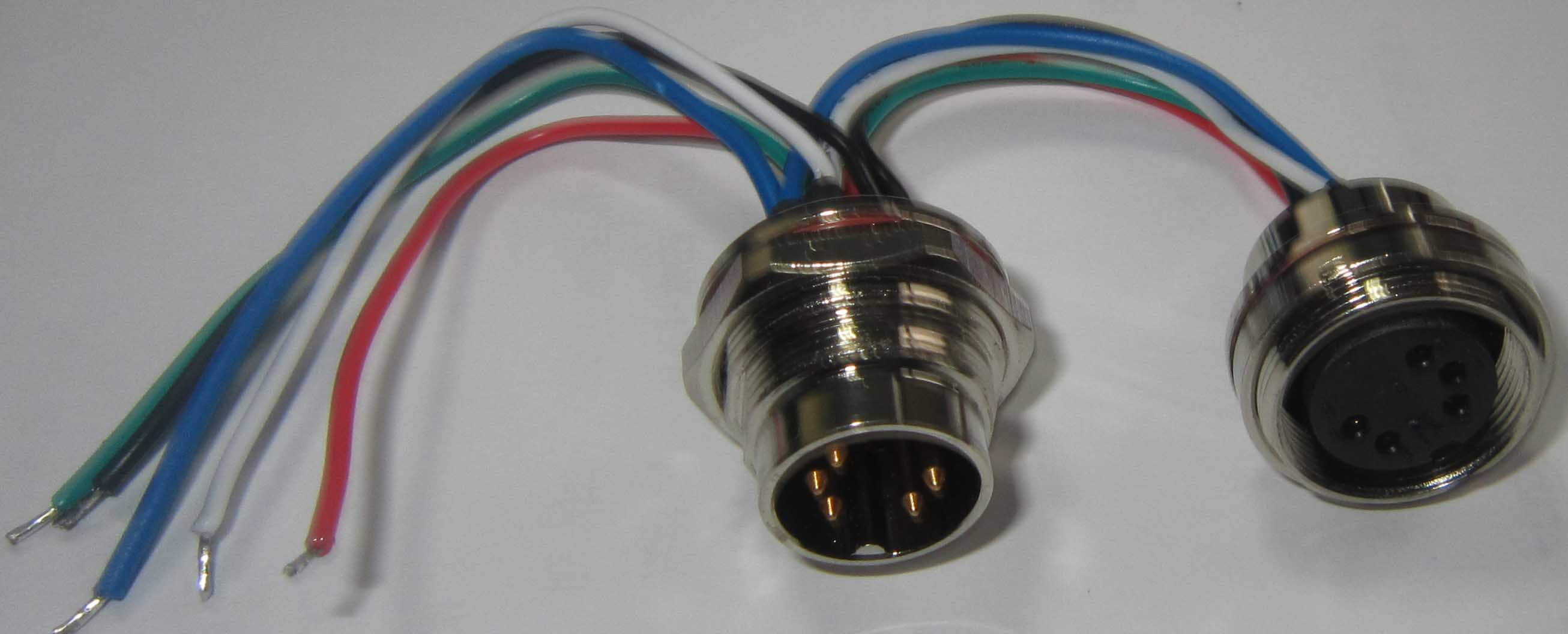 China Aisg 5pins Wire Receptacle Connector - China Aisg Connector ...
