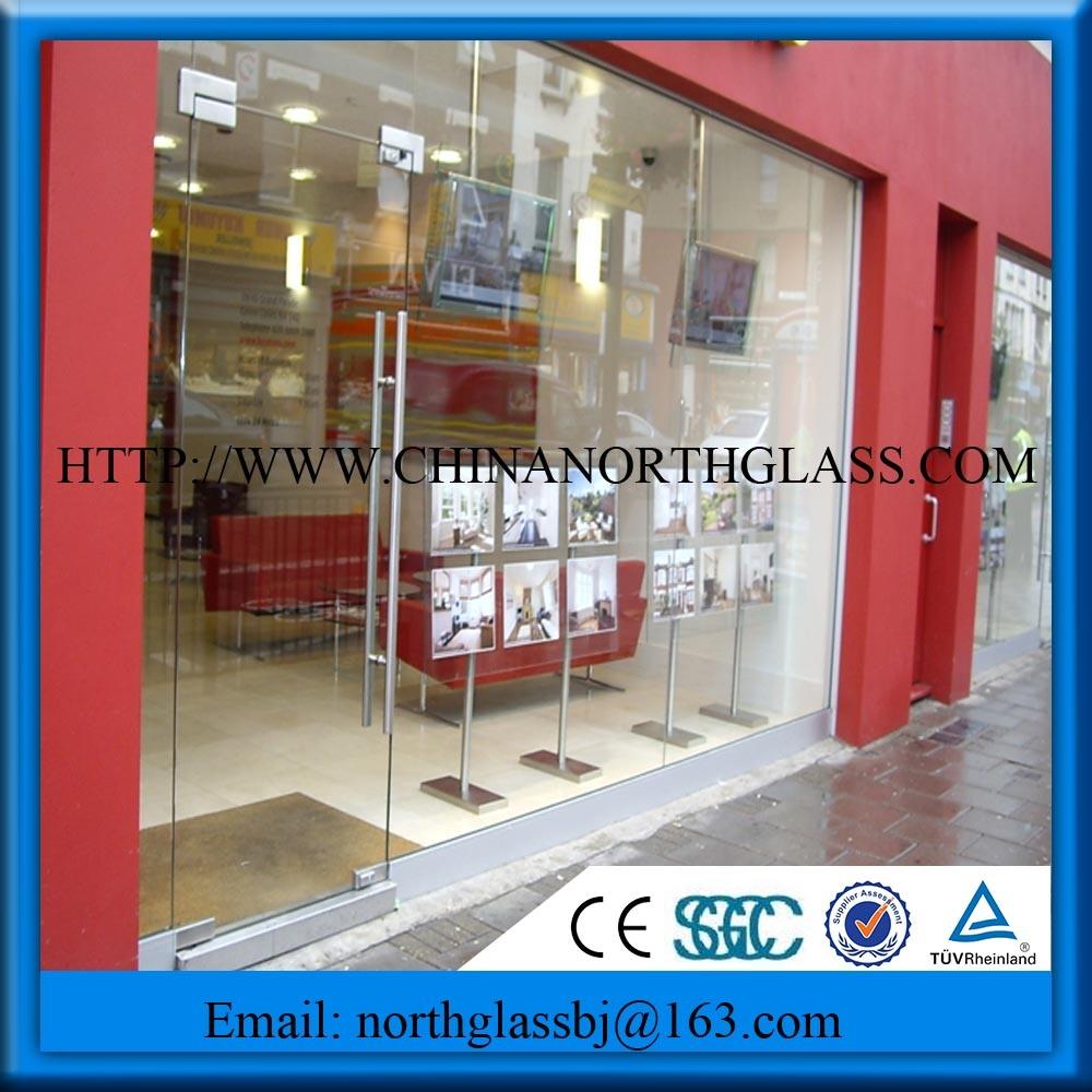 China Best Price Glass Panel Shopfront Safety Glass China 838mm