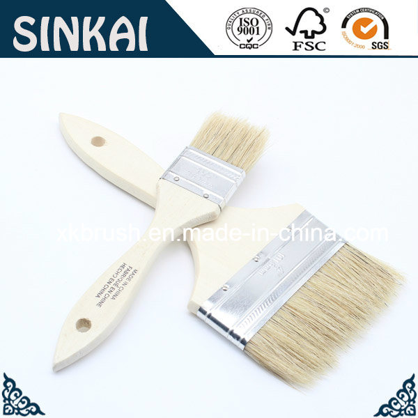 Pure Bristle Chip Brushes with Wood Handle