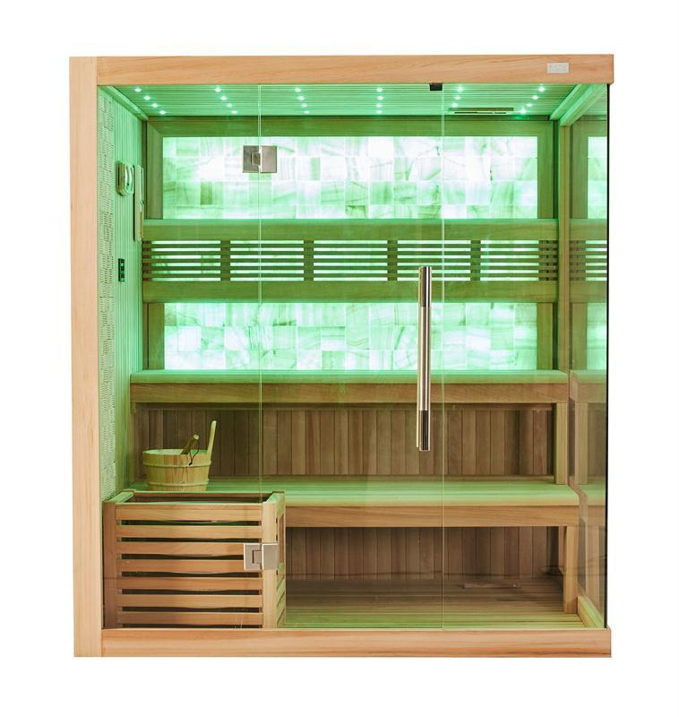 Luxury European Style Good Quality Lose Weight Dry Sauna with Yellow Jade M-6048