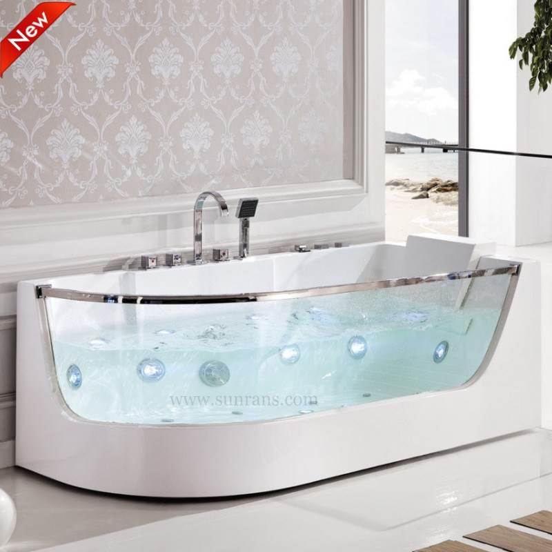 China Portable Single Acrylic Solid Surface Massage Bathtub SPA ...