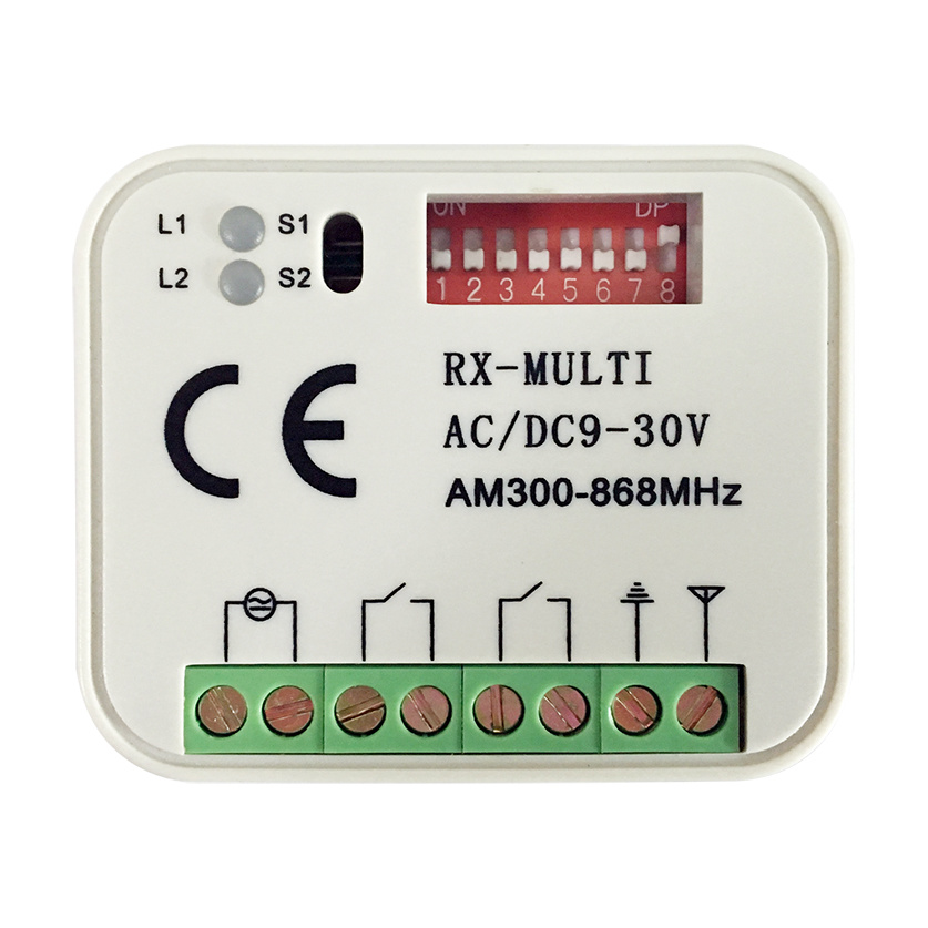 China Shenzhen Factory Wireless Receiver 2CH RF Remote Control Relay ...