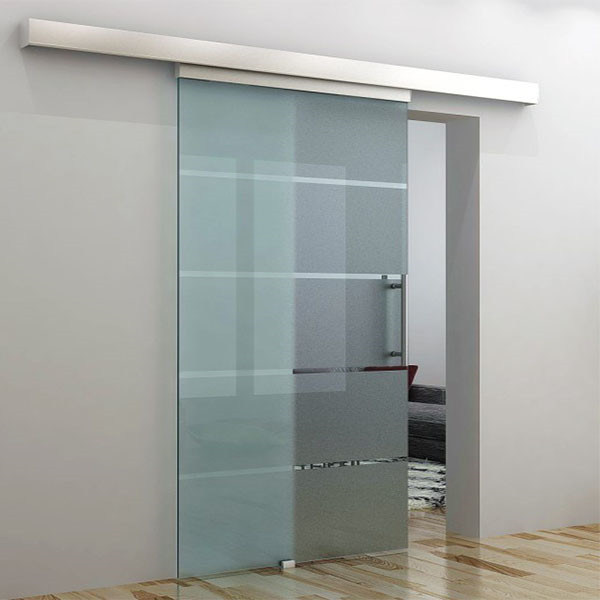 Tempered Frosted Glass Sliding Door Deisgn