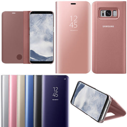 brand new e14d3 24fdf [Hot Item] for Samsung Galaxy Note8 S8+ Clear S View Mirror Leather Flip  Stand Case Cover