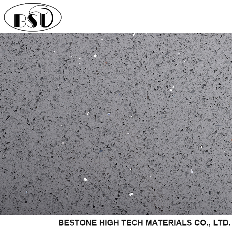 China Gray Sparkle Quartz Floor Tile Photos Pictures Made In