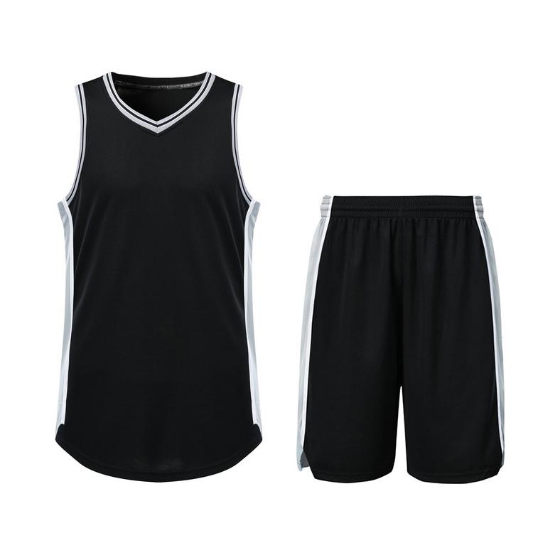 22957296b9bb China Plain Simple Customized Men′s Basketball Jersey with Mesh Fabric -  China Basketball Uniform