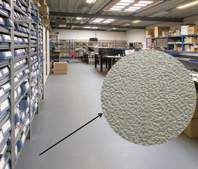 China Rubber Vinyl Interlocking Garage Floor Workshop Floor Tiles