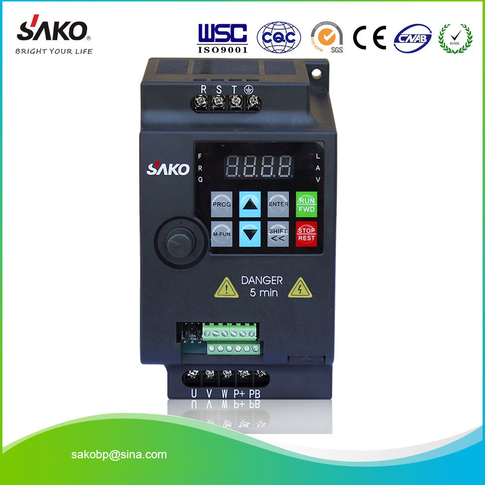 China Sako 230v Single Phase Input 075kw 1hp Micro Vfd Variable Frequency Drive Circuit Inverter For Motor Speed Control High Quality Pump