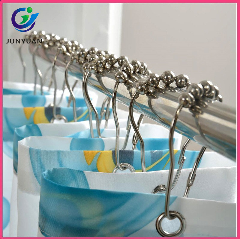 Foot Shape Metal Curtain Rings Bathroom Shower Track Hooks