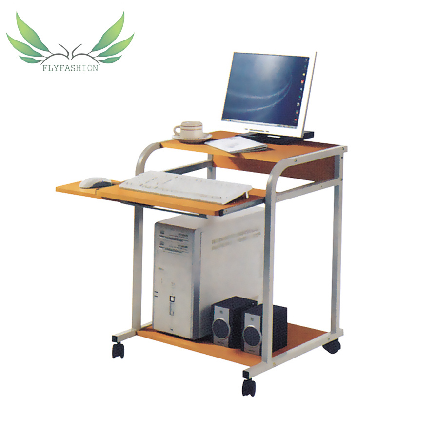 - China Wooden PC Table Computer Desk With Wheels - China Computer