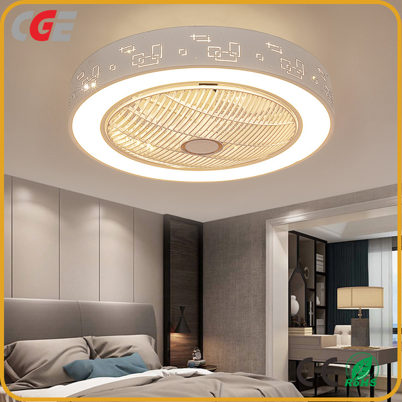 China Simple Bedroom Hotel Decoration Lamp Led Ceiling Fan Light Dimmable Light With Hide Fan Motor China Ceiling Fan Light Led Ceiling Lamp