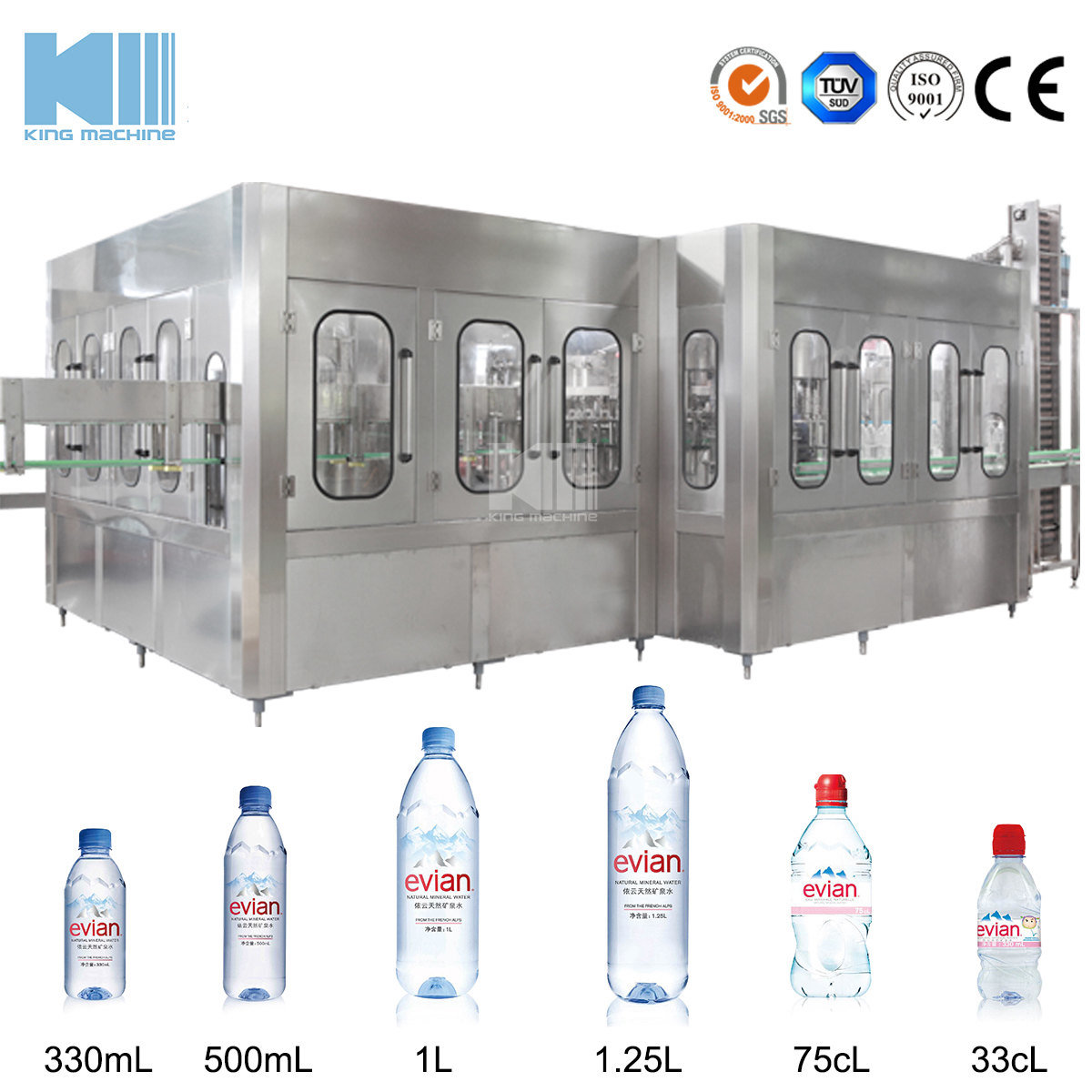 China Automatic Plastic Bottle Water Filling Packaging Machinery for Sale -  China Drinking Water Bottling Line, Liquid Filling Machine
