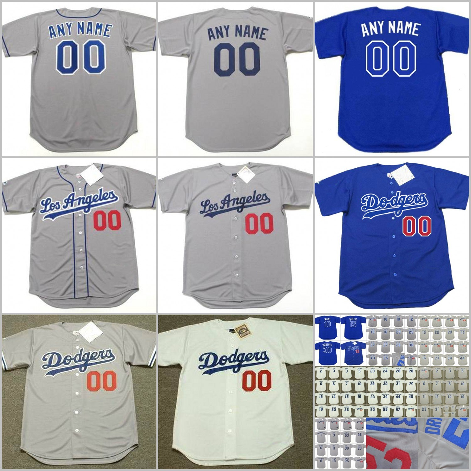 buy online c58f8 7f5cc [Hot Item] Tommy Lasorda Steve Garvey Ron Cey Dodgers Baseball Throwback  Jersey
