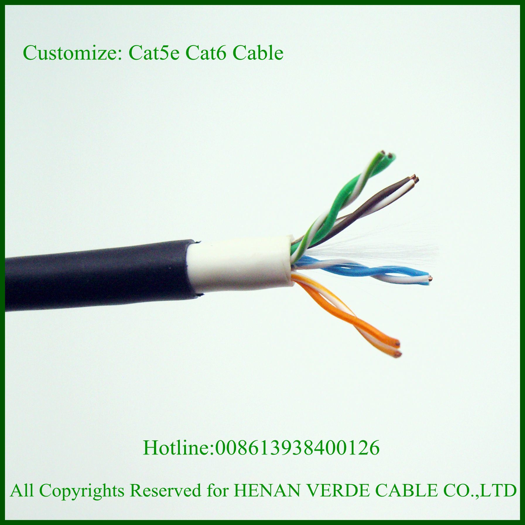 China Utp Ftp Indoor Outdoor Customized Cat5e Cat6 Network Cable Wiring Cat 6 Data
