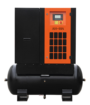 Competitive Price Tank Mounted Screw Air Compressor 7.5HP-20HP (ISO, CE, ASME Certificate)