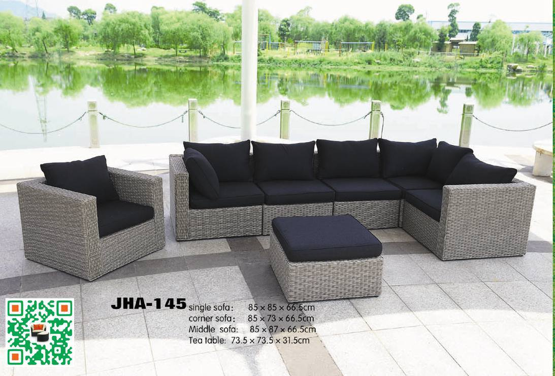China Sgs Approved Outsunny Deluxe Outdoor Patio Pe Rattan Wicker 7 Pc Sofa Sectional Furniture Set Jha 145 Garden