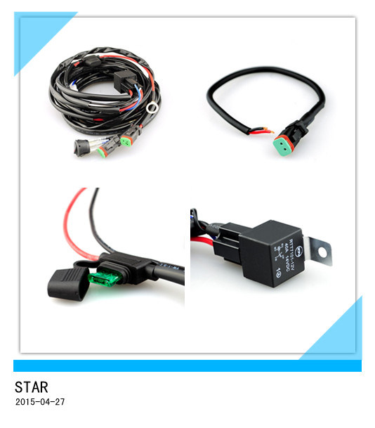 [Hot Item] Single Waterproof Relay Connector LED Wiring Harness on