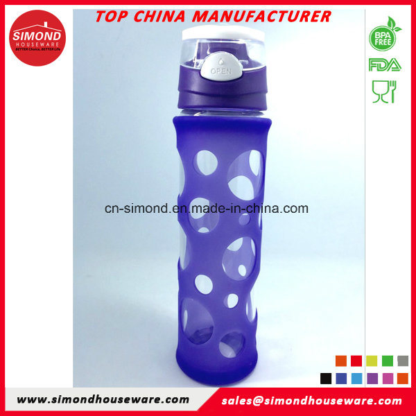500ml Borosilicate Glass Water Bottle with Silicon Sleeve GB-A3
