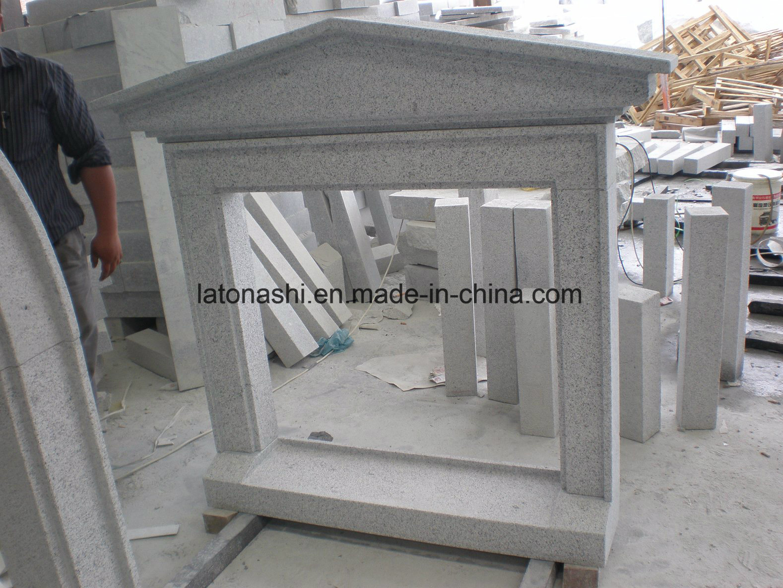 China Light Grey Granite Exterior Window Sill For Outdoor China