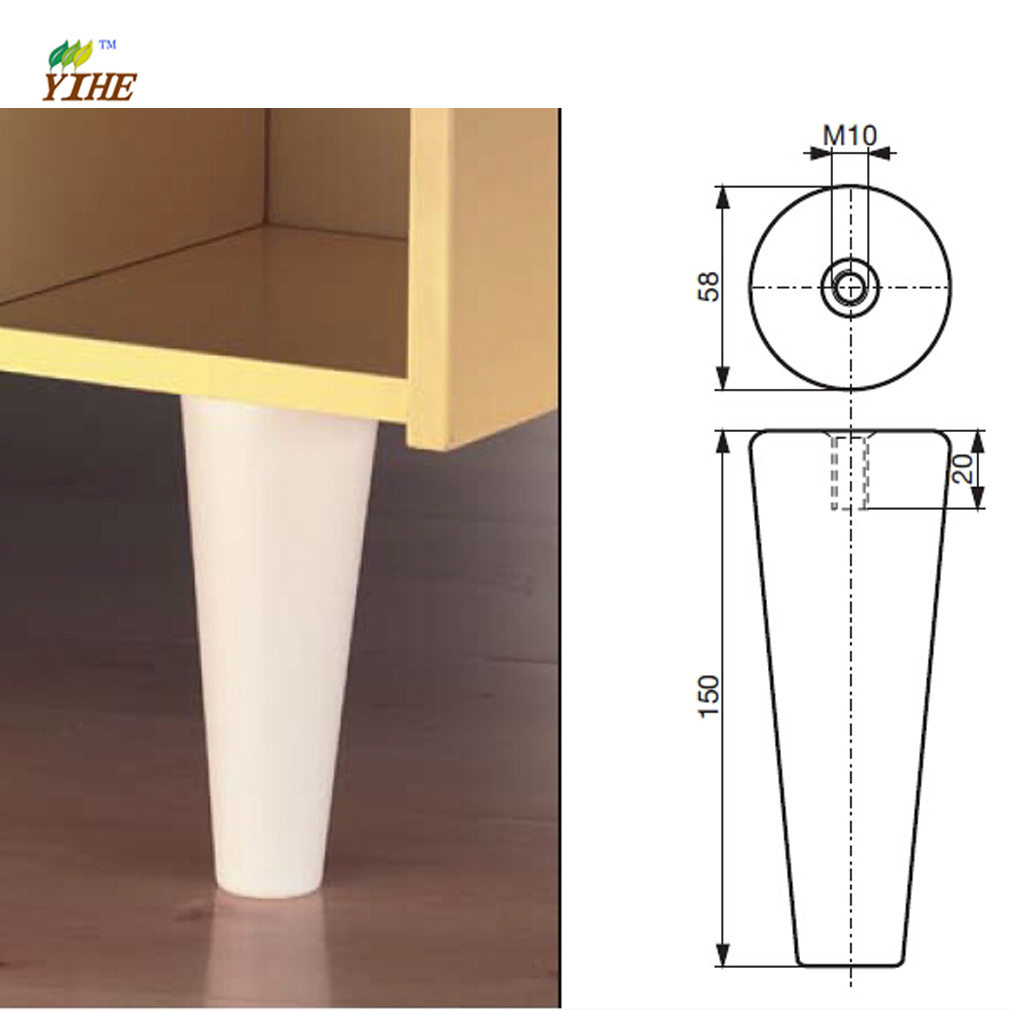 [Hot Item] Kitchen Cabinet Legs Made of Beech with Well Sanding and Painting