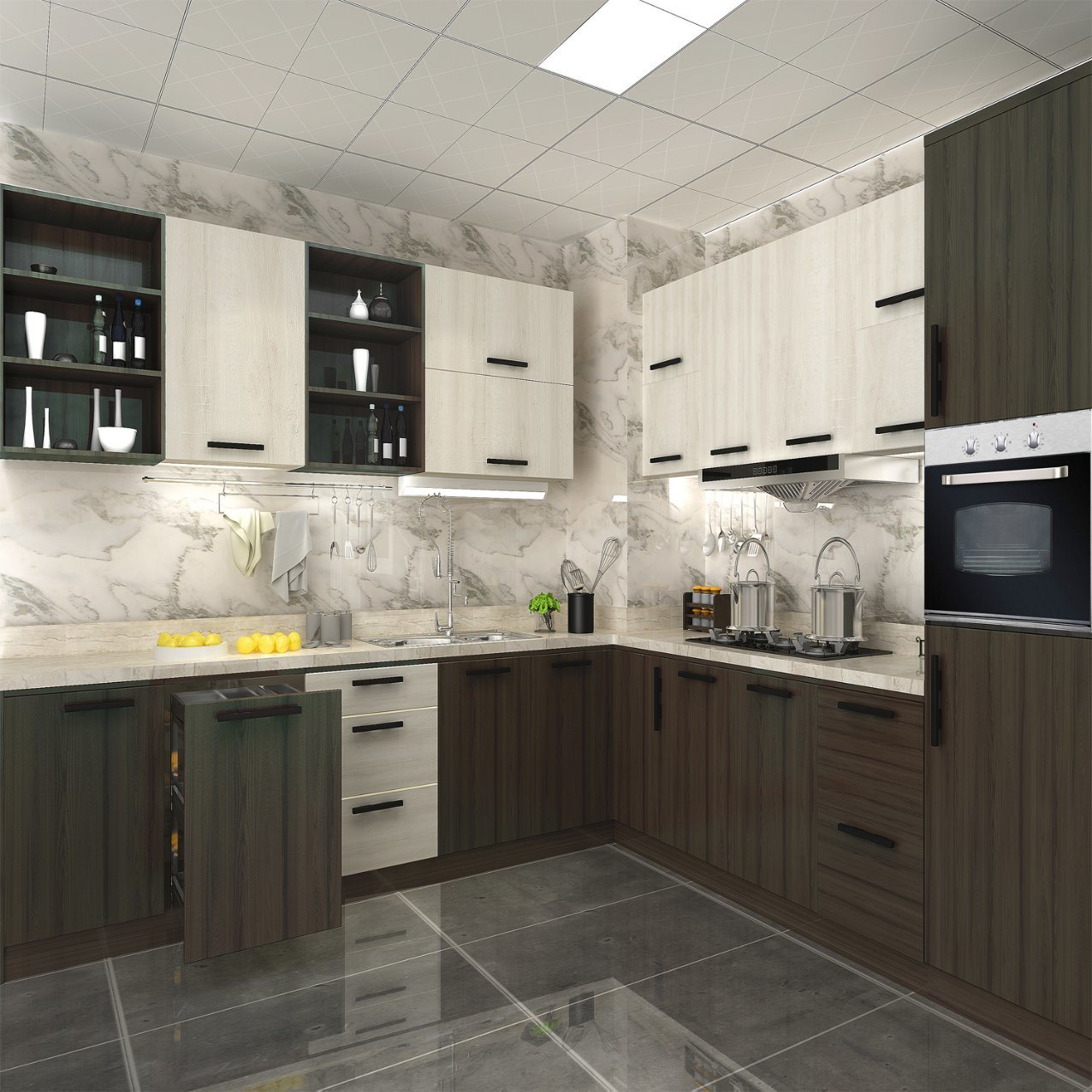 China Modern Custom Wood Design Kitchen Cabinets China Modern Kitchen Cabinet Modern Furniture