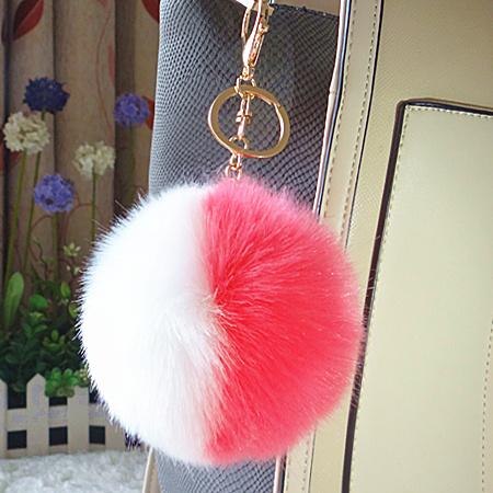 Beautiful Heart Shaped Fur Key Ring Fake Fur Bag Charm Faux POM POM for Bag f8e5accda7c17