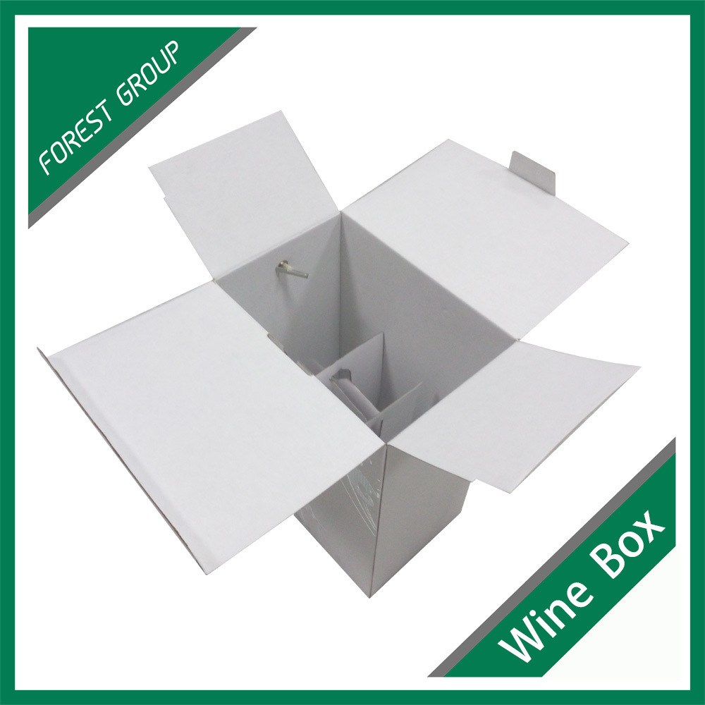 Hot Item White Custom Paper 6 Bottle Wine Box With Silver Foil Wine Gift Box Wholesale