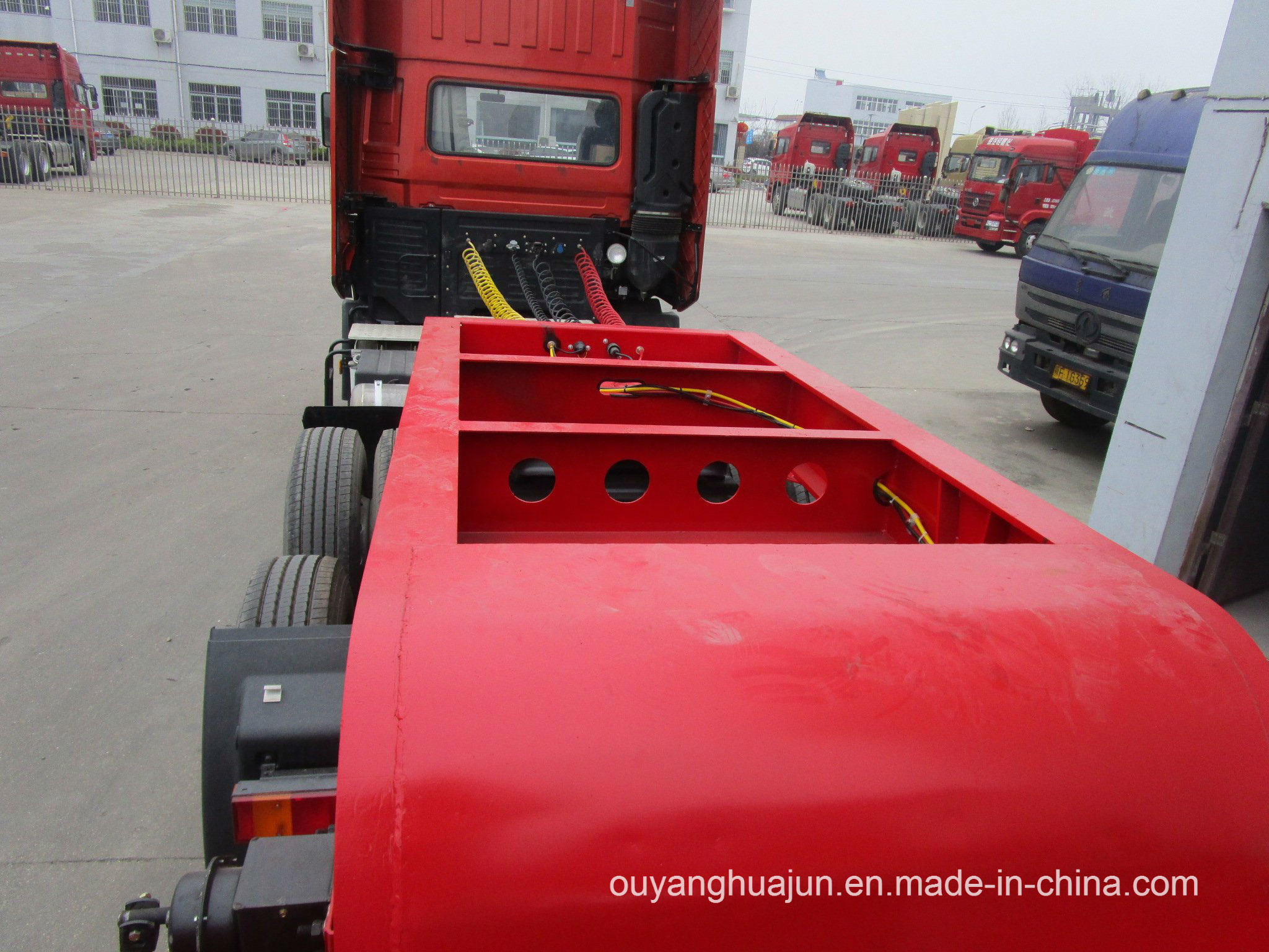 3 Axles Gooseneck Excavator Carrier Vehicle Semitrailer