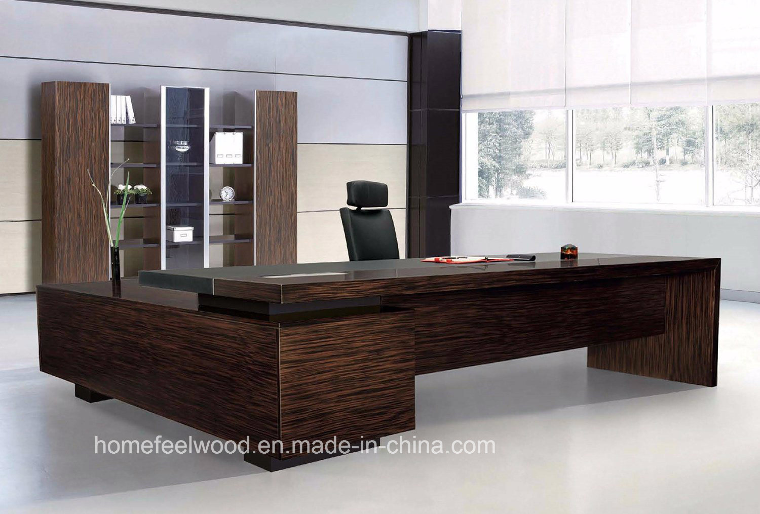 wooden office table. l shape and round wooden office table r